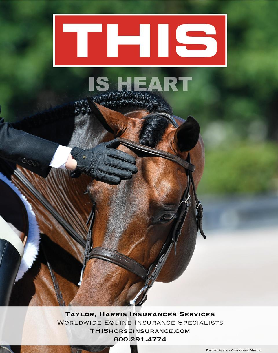 IS HEART  Taylor, Harris Insurances Services Worldwide Equine Insurance Specialists THIShorseinsurance.com 800.291.4774 Ph...
