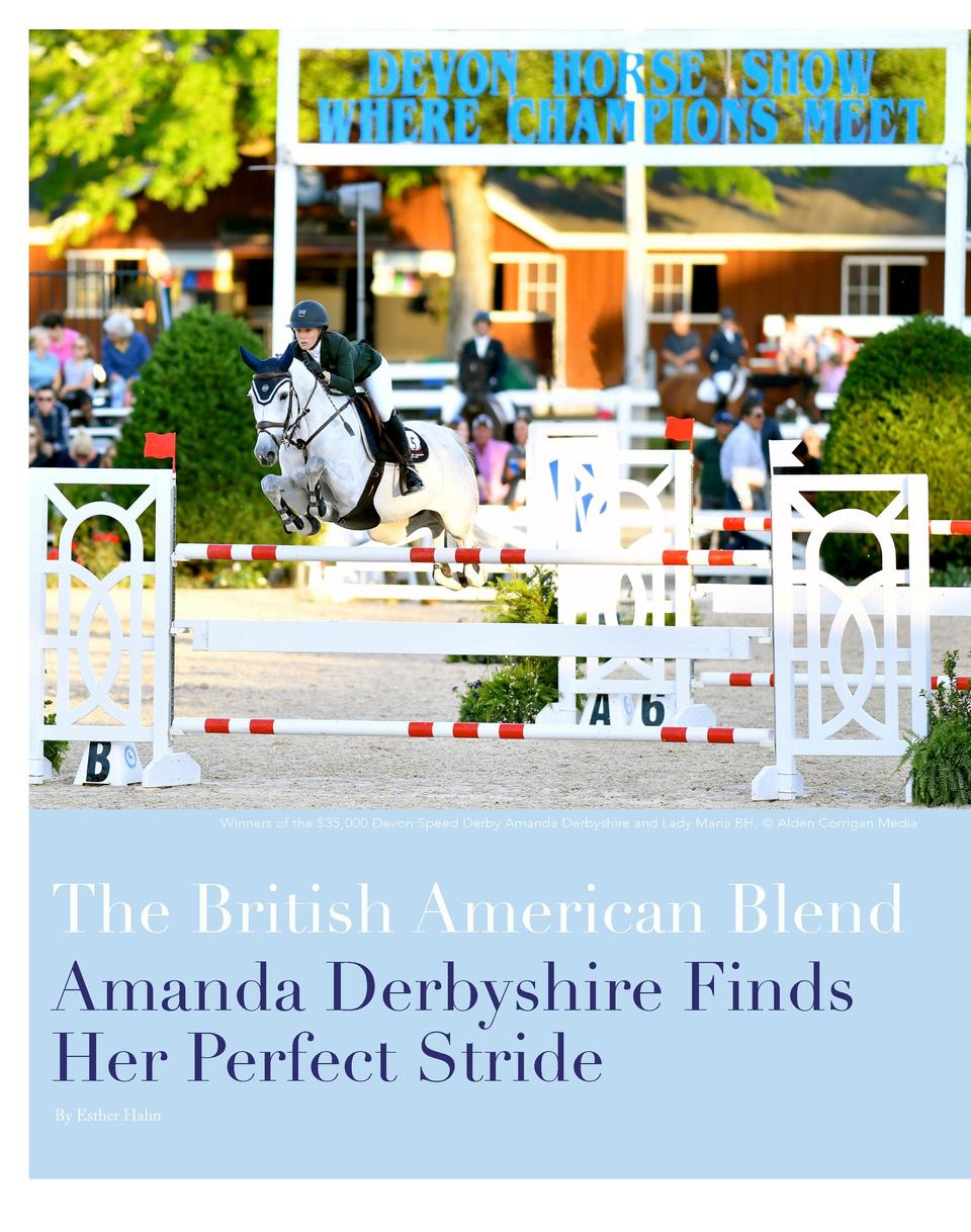 Winners of the  35,000 Devon Speed Derby Amanda Derbyshire and Lady Maria BH.    Alden Corrigan Media  The British America...