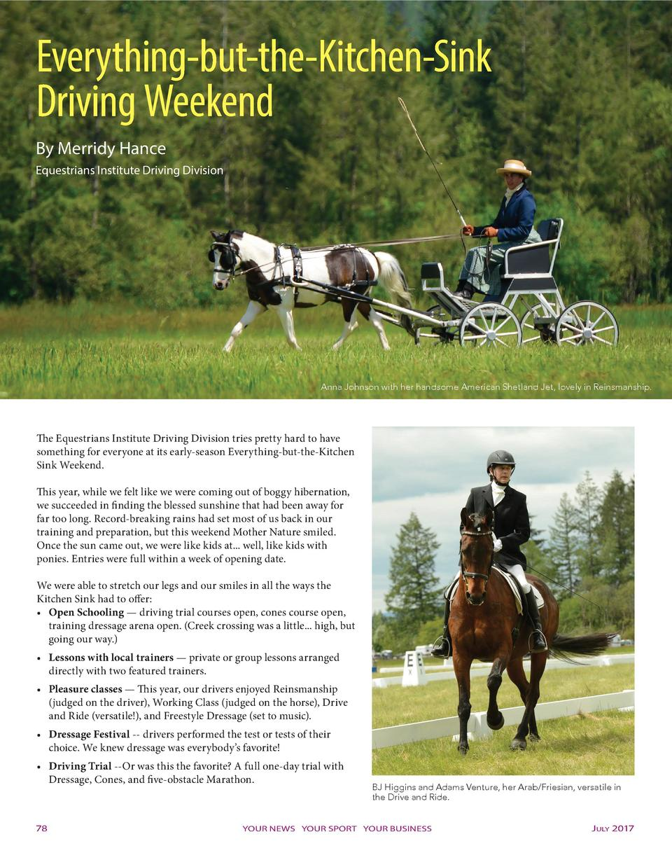 Everything-but-the-Kitchen-Sink Driving Weekend By Merridy Hance Equestrians Institute Driving Division  Anna Johnson with...