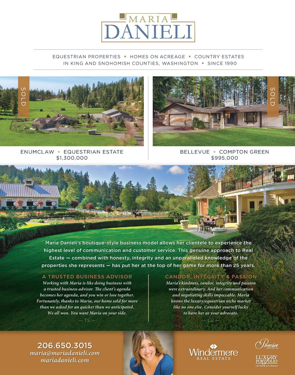 Equestrian Properties Homes On Acreage Country Estates In King And Snohomish  Counties, Washington Since 1990